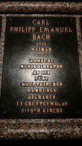 Carl Philipp Emauel Bach Gedenkplatte