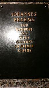 Johannes Brahms Gedenkplatte