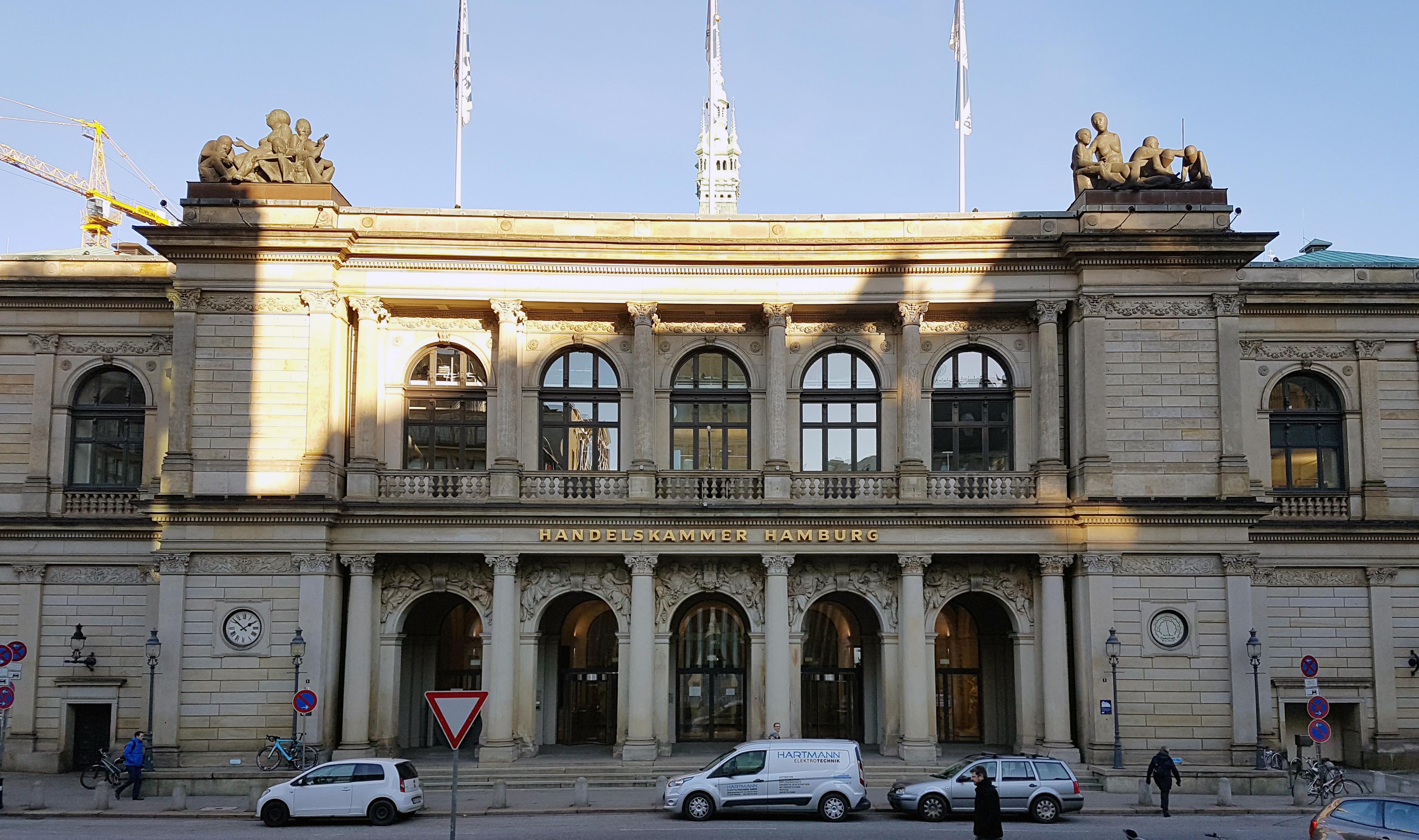 Haupteingang der Handelskammer Hamburg