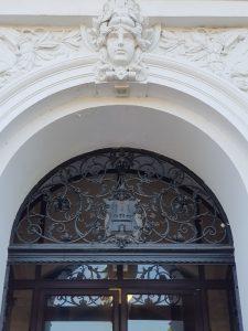 Jugendstil Element und Wappen von Altona