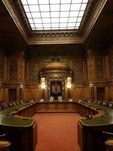 Ratsstube im Senatsgehege. Tagungszimmer des Senats