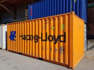 Hapag-Lloyd Container im klassischen orange