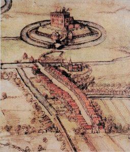 Älteste Darstellung Harburgs von 1577